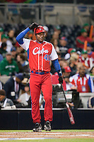 16 March 2009: #40 Rolando Merino of Cuba is seen at bat during the 2009 World Baseball Classic Pool 1 game 3 at Petco Park in San Diego, California, USA. Cuba wins 7-4 over Mexico.