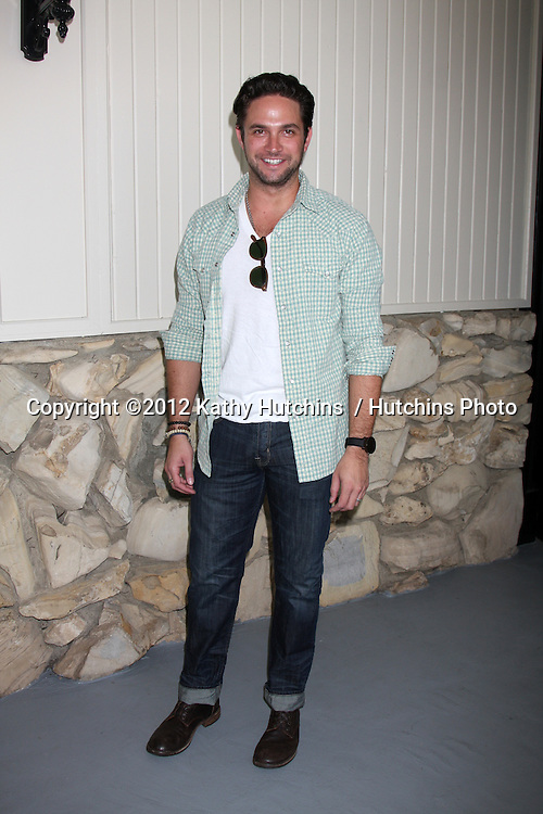 LOS ANGELES - JUL 21:  Brandon Barash arrives at the 2012 General Hospital Fan Club Luncheon at Sportsman's Lodge  on July 21, 2012 in Studo City, CA