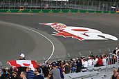 June 9th 2017, Montreal, Canada; Formula 1 Grand prix of Canada, Free practise day; Track based Banner showing Canada has hosted Formula 1 for 50 years