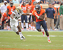 Virginia Cavaliers Miles Gooch (17) during a game against the UCLA Bruins on August 30, 2014 at Scott Stadium in Charlottesville, VA. UCLA beat Virginia 28-20.