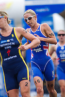 10 APR 2011 - SYDNEY, AUS - Liz Blatchford - women's ITU World Championship Series triathlon in Sydney, Australia  .(PHOTO (C) NIGEL FARROW)