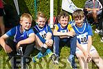 Enjoying the Community Games  at An Riocht Castleisland  on Saturday were Annascaul team Jack Loyn, Frans O'Brien, Fionn Spillan and Padraig Moriarty