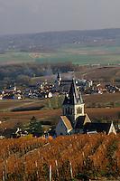 Europe/France/Champagne-Ardenne/51/Marne/Ville-Dommange: Vignoble champenois et le village