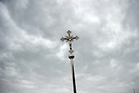 Un Cristo durante la processione di Sant'Onofrio. A Christ during Sant'Onofrio procession.