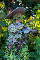 Whimsical Mexican sculptures with succulents at San Diego Botanic Garden