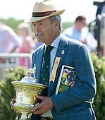 George Strawbridge holds the Radnor Hunt Cup trophy.