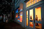On the first Thursday of every month, art galleries in Portland hold receptions and stay open later in the evening to launch their new shows.  The galleries are primarily located in the Pearl District, but include the Everett Station Lofts and independent artists set up in the streets around the Pacific Northwest College of Art.  Pictured here is the Elizabeth Leach Gallery.