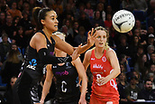 7th September 2017, Te Rauparaha Arena, Wellington, New Zealand; Taini Jamison Netball Trophy; New Zealand versus England;  Silver Ferns Maria Tutaia takes a pass