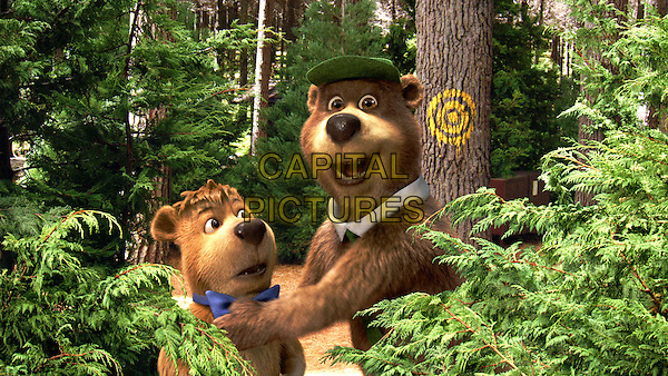 Boo Boo voiced by JUSTIN TIMBERLAKE & Yogi Bear voiced by DAN AYKROYD.in Yogi Bear (2010) .*Filmstill - Editorial Use Only*.CAP/FB.Supplied by Capital Pictures.