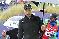 Danny Willett (ENG) walks to the 9th tee during Sunday's Final Round of the 148th Open Championship, Royal Portrush Golf Club, Portrush, County Antrim, Northern Ireland. 21/07/2019.<br />