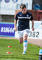 Dundee's Paul McGowan warms up before the game.