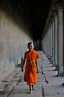 Novice Monk at Angkor Wat Siem Reap