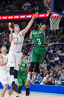 Real Madrid Luka Doncic and Unicaja Ray McCallum during Turkish Airlines Euroleague match between Real Madrid and Unicaja at Wizink Center in Madrid, Spain. November 16, 2017. (ALTERPHOTOS/Borja B.Hojas) /NortePHoto.com
