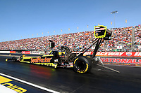 Sep 2, 2017; Clermont, IN, USA; NHRA top fuel driver Richie Crampton during qualifying for the US Nationals at Lucas Oil Raceway. Mandatory Credit: Mark J. Rebilas-USA TODAY Sports