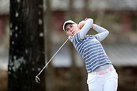 WALLACE, NC - MARCH 09: Tereza Melecka of East Tennessee State University tees off on the 16th hole of the River Course at River Landing Country Club on March 09, 2020 in Wallace, North Carolina.