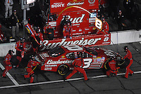 Feb 10, 2007; Daytona, FL, USA; Nascar Nextel Cup driver Dale Earnhardt Jr (8) pits during the Budweiser Shootout at Daytona International Speedway. Mandatory Credit: Mark J. Rebilas.
