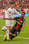 17.03.2019, BayArena, Leverkusen, GER, 1. FBL, Bayer 04 Leverkusen vs. SV Werder Bremen,<br />  <br /> DFL regulations prohibit any use of photographs as image sequences and/or quasi-video<br /> <br /> im Bild / picture shows: <br /> Milot Rashica (Werder Bremen #11), im Zweikampf gegen  Wendell (Leverkusen #18), <br /> <br /> Foto © nordphoto / Meuter