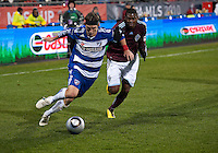 21 November 2010: FC Dallas defender Zach Loyd #19 and Colorado Rapids defender Anthony Wallace #6 in action during the 2010 MLS CUP between the Colorado Rapids and FC Dallas at BMO Field in Toronto, Ontario Canada..The Colorado Rapids won 2-1 in extra time....