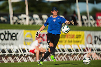 Sky Blue FC goalkeeper coach Nate Kipp. Sky Blue FC defeated the Washington Spirit 1-0 during a National Women's Soccer League (NWSL) match at Yurcak Field in Piscataway, NJ, on July 6, 2013.