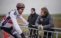 team coach Marc Herremans pre-race<br /> <br /> CX Superprestige Noordzeecross <br /> Middelkerke / Belgium 2017