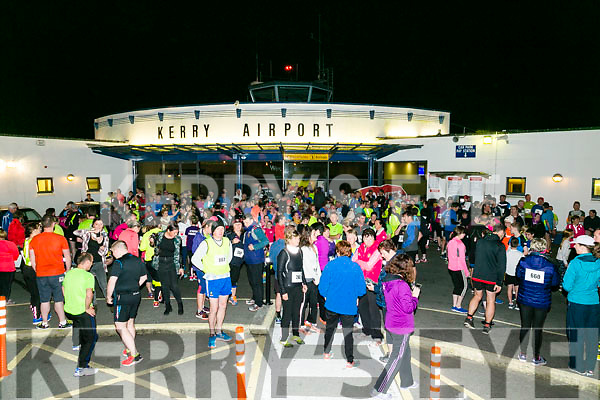Big Crowd  at the Kerry Airport Runway 5k Fun Run 7th October in aid of Cystic Fibrosis supported by The Rugby clubs of West Munster sponsored by Garveys Supervalu Group