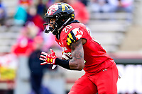 College Park, MD - OCT 27, 2018: Maryland Terrapins running back Javon Leake (20) returns the kickoff for a touchdown during game between Maryland and Illinois at Capital One Field at Maryland Stadium in College Park, MD. The Terrapins defeated Illinois to move to 5-3 on the season. (Photo by Phil Peters/Media Images International)