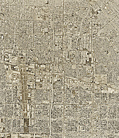 historical aerial photograph Van Nuys, Los Angeles County, California, 1995