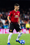 Andreas Pereira of Manchester United in action during the UEFA Champions League 2018-19 match between Valencia CF and Manchester United at Estadio de Mestalla on December 12 2018 in Valencia, Spain. Photo by Maria Jose Segovia Carmona / Power Sport Images