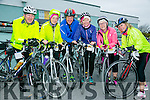 at the St. Brendan's N.S. FENIT Coastal Cycle fundraiser for St Brendan's N.S were l-r  Liam Gowan, Mary Feely, Gerard O'Connor, Bridget O'Connor, Maria Conway and Gretta Murphy from Crotta Leisure Cyclists
