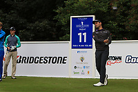 Moritz Lampert (GER) on the 11th tee during Round 1 of the Northern Ireland Open at Galgorm Golf Club, Ballymena Co. Antrim. 10/08/2017<br /> Picture: Golffile | Thos Caffrey<br /> <br /> <br /> All photo usage must carry mandatory copyright credit (&copy; Golffile | Thos Caffrey)