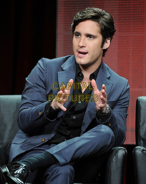 BEVERLY HILLS, CA - AUGUST 6: Diego Boneta onstage at the 'Scream Queens' panel during the 2015 FOX Summer TCA tour at the Beverly Hilton Hotel on August 6, 2015 in Beverly Hills, California. <br /> CAP/MPI/PGFM<br /> &copy;PGFM/MPI/Capital Pictures