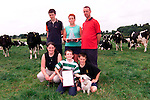 Tom and Margaret Tallon from Keenogue, Duleek who were the North east region winners in the Glanbia Milk Quality Awards. They are pictured on thier farm with children Michael, Cathal, Niamh and Sean..Picture: Paul Mohan/Newsfile