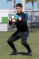 Lakewood Ranch, FL - Sunday Jan. 07, 2018: Johan Penaranda during an U-19 USMNT training session at Premier Sports Campus in Lakewood Ranch, FL.