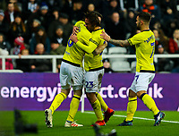Blackburn Rovers' Bradley Dack celebrates scoring the opening goal with teammates<br /> <br /> Photographer Alex Dodd/CameraSport<br /> <br /> Emirates FA Cup Third Round - Newcastle United v Blackburn Rovers - Saturday 5th January 2019 - St James' Park - Newcastle<br />  <br /> World Copyright &copy; 2019 CameraSport. All rights reserved. 43 Linden Ave. Countesthorpe. Leicester. England. LE8 5PG - Tel: +44 (0) 116 277 4147 - admin@camerasport.com - www.camerasport.com