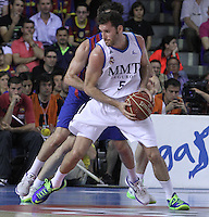 14.06.2013 Bacelona, Spain. Liga Endesa Play Off titulo. Picture show Rudy Fernandez in action during game betwen FC BArcelona v Real Madrid at Palau Blaugrana