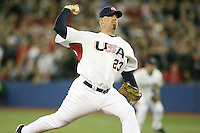 March 7, 2009:  Pitcher JJ Putz (23) of Team USA during the first round of the World Baseball Classic at the Rogers Centre in Toronto, Ontario, Canada.  Team USA defeated Canada 6-5 in both teams opening game of the tournament.  Photo by:  Mike Janes/Four Seam Images