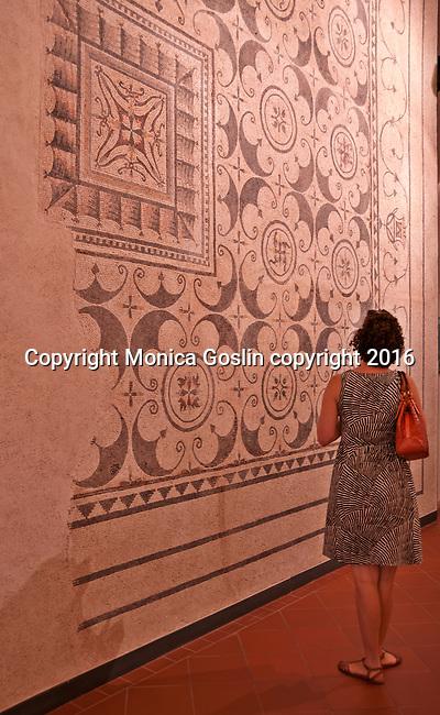 Roman mosaics at Santa Giulia Museum Complex in Brescia, Italy