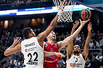 Real Madrid Walter Tavares and Anthony Randolph and CSKA Moscow Alec Peters during Turkish Airlines Euroleague match between Real Madrid and CSKA Moscow at Wizink Center in Madrid, Spain. November 29, 2018. (ALTERPHOTOS/Borja B.Hojas)