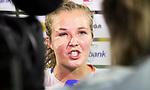 AMSTELVEEN -  Een gehavende Xan de Waard  na Nederland-Tsjechie (10-0) bij de Rabo EuroHockey Championships 2017. COPYRIGHT KOEN SUYK