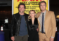 LOS ANGELES, CA - AUGUST 14: Dax Shepard, Kristen Bell and Bradley Cooper arrives at the 'Hit & Run' Los Angeles Premiere on August 14, 2012 in Los Angeles, California MPI21 / Mediapunchinc /NortePhoto.com<br />