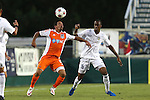 27 May 2015: Carolina's Nacho Novo (ESP) (10) and Charlotte's Kevin Bilal Duckett (15). The Carolina RailHawks hosted the Charlotte Independence at WakeMed Stadium in Cary, North Carolina in a 2015 Lamar J. Hunt United States Open Cup Third Round match. Charlotte won the game 1-0.