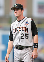Tucson Sidewinders shortstop Stephen Drew #25 during introductions before the Triple-A All-Star Game at Fifth Third Field on July 12, 2006 in Toledo, Ohio.  (Mike Janes/Four Seam Images)