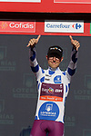 Angel Madrazo Ruiz (ESP) Burgos-BH retains the mountains Polka Dot Jersey at the end of Stage 10 of La Vuelta 2019 an individual time trial running 36.2km from Jurancon to Pau, France. 3rd September 2019.<br /> Picture: Colin Flockton | Cyclefile<br /> <br /> All photos usage must carry mandatory copyright credit (© Cyclefile | Colin Flockton)