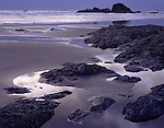 Olympic National Park, WA    © Terry Donnelly  /<br /> Silver light at dusk plays on the tide pools and seastacks of Ruby Beach
