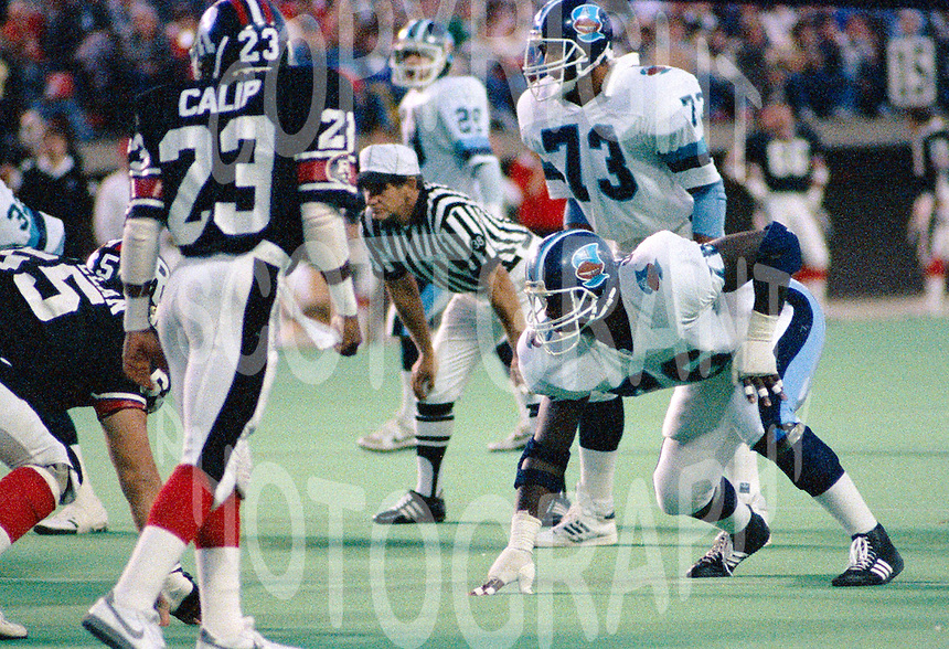 Mark Seale Toronto Argonauts 1986. Photo John Bradley