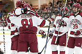Tyler Moy (Harvard - 2), Jake Horton (Harvard - 91), (Bergin, Hart) - The Harvard University Crimson defeated the visiting Princeton University Tigers 5-0 on Harvard's senior night on Saturday, February 28, 2015, at Bright-Landry Hockey Center in Boston, Massachusetts.