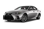 Stock pictures of low aggressive front three quarter view of 2017 Lexus IS 350 4 Door Sedan Low Aggressive