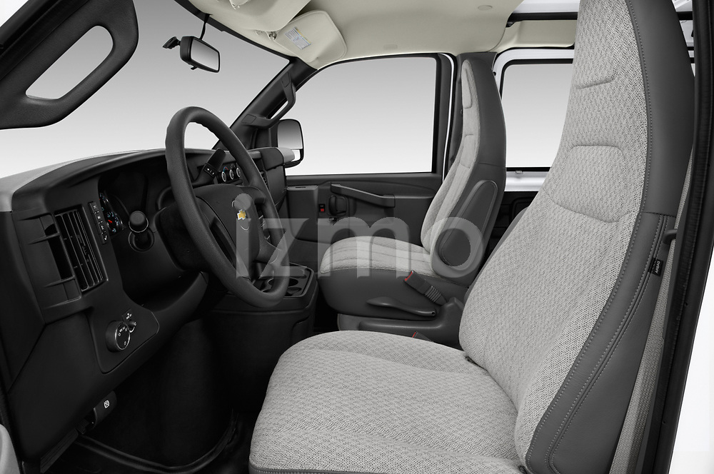 Front seat view of a 2018 Chevrolet Express 3500 3500 Extended Work Van 4 Door Cargo Van front seat car photos