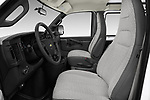 Front seat view of a 2017 Chevrolet Express 3500 3500 Extended Work Van 4 Door Cargo Van front seat car photos