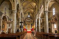 Italy, Lombardia, Salò: cathedral Santa Maria Annunziata, late gothic   Italien, Lombardei, Gardasee, Salò: der Dom Santa Maria Annunziata, Spaetgotik